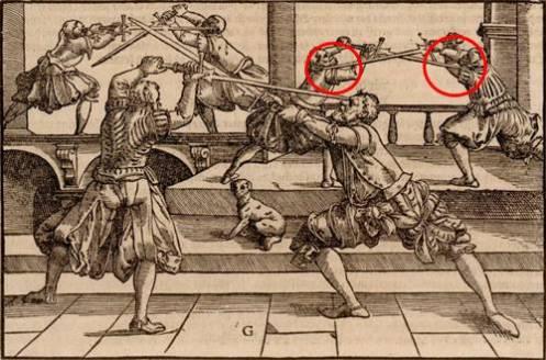 Из работы Йоахиам Майера «Подробное описание искусства фехтования», 1570 год.