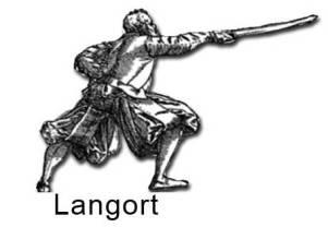 """Дюссак. Позиция """"Langort"""" по Майеру. 1600 год."""
