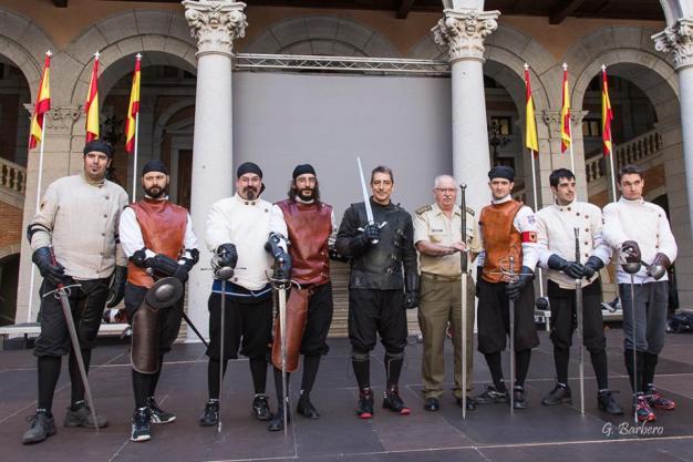 Историческое фехтование в Алькасар-де-Толедо, 2014 г. Ассоциация исторического фехтования Испании.