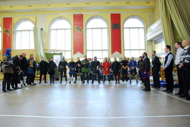 FechtTerra-2014, Saint-Petersburg. Participants of the first longsword tournament in Saint-Petersburg.