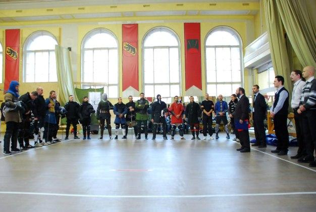 FechtTerra-2014, Saint-Petersburg. Participants of the first longsword tournament in Saint-Petersburg.