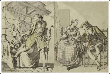 Французские мужчина и женщина, 1770-е годы.