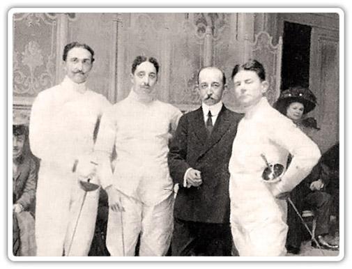 Слева направо: Марчелло Бертинетти, Джузеппе Манджаротти, Масаниелло Паризе, Рикардо Новак. Фото Манджаротти.