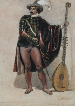 """Вернер Карл Фридрих Генрих (1808-1894). """"Прерваная серенада""""."""