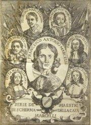 """Франческо Антонио Марчелли, """"Regole Della Scherma"""" («Правила фехтования»), 1686 год."""