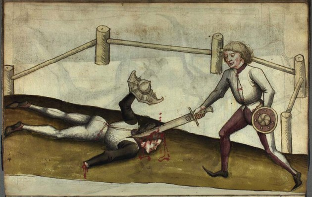Иллюстрация из манускрипта Ханса Талхоффера ( Hans Talhoffer), 1459 год.